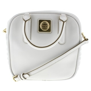 Marc by Marc Jacobs Womens The Big Bind Stevie Leather Quilted Satchel Handbag - star white - Large