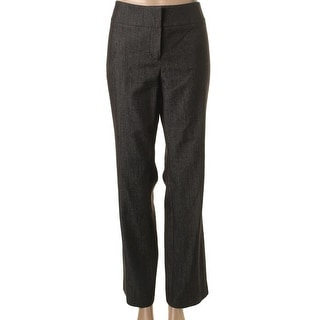 Nine West Womens The Trouer Twill Stretch Straight Leg Pants