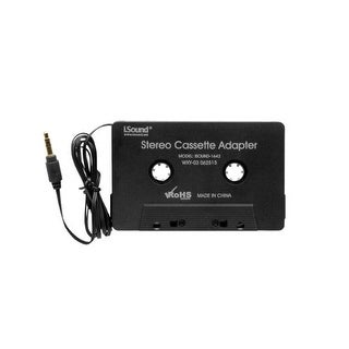 iSound   DRM1642b iSound Stereo Cassette Adapter (Black)