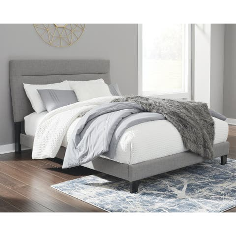Adelloni Flat Upholstered Bed Frame