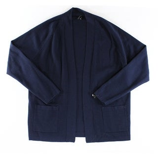 Theory NEW Solid Navy Blue Mens Size Large L Cardigan Wool Sweater