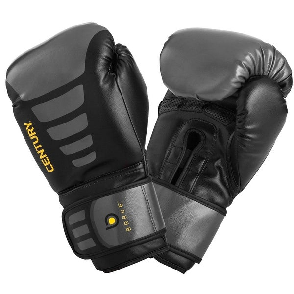 Century Brave Hook and Loop Training Boxing Gloves - Black/Gray
