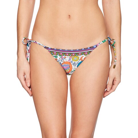 Trina Turk Pink Women's Size 6 Bikini Bottom Floral Printed Swimwear