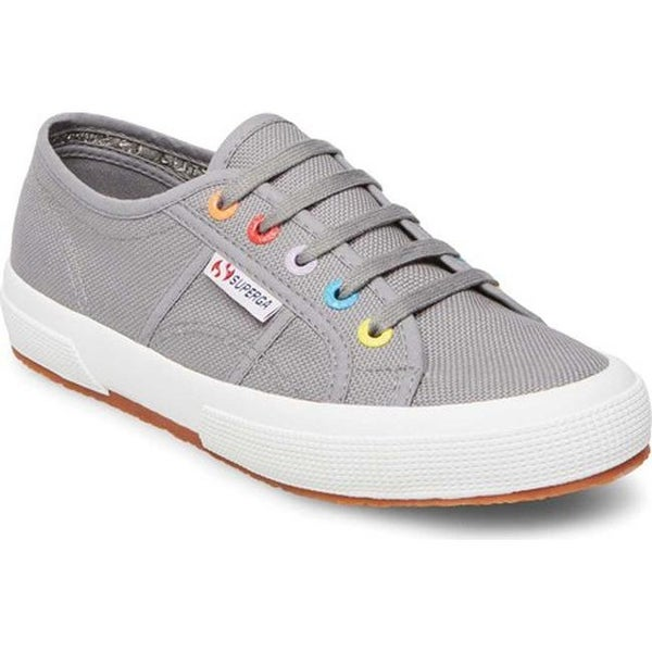 83fa88ccabca3 Shop Superga Women's 2750 Colored Eyelets Sneaker Grey Sage Canvas ...