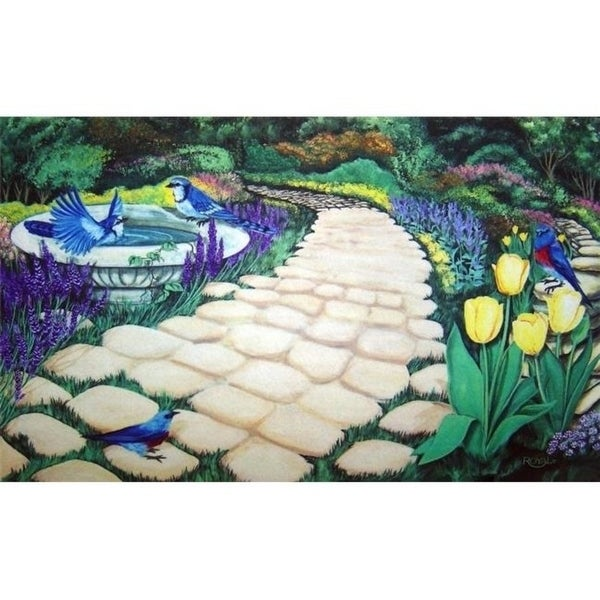 Custom Printed Rugs AWV061 Garden Path Doormat Rug Green - 18 x 30 in.
