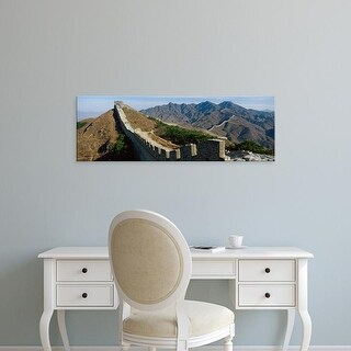 Easy Art Prints Panoramic Images's 'Great Wall Of China' Premium Canvas Art