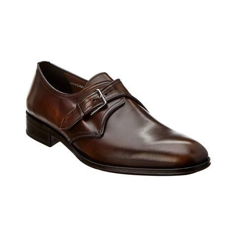 Salvatore Ferragamo Single Buckle Leather Oxford