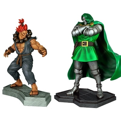 Doctor Doom Vs. Akuma 1:4 Scale Statue Set