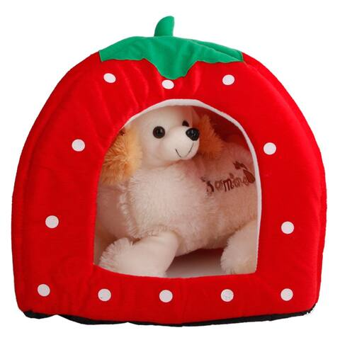 S/M/L Strawberry Style Multi-purpose Pets House Nest Yurt
