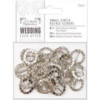 Circle - Papermania Ever After Wedding Buckle Ribbon Sliders 25/Pkg