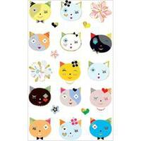 Cats Frilly Faces - Mrs. Grossman's Stickers
