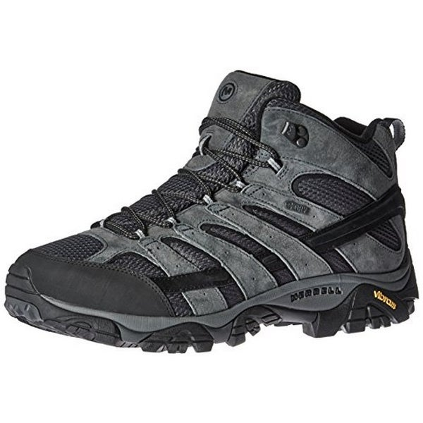 Merrell Mens Moab 2 Mid Waterproof, Granite