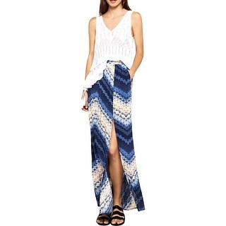 BCBGeneration Womens Maxi Skirt Tie-Dye Side Slit