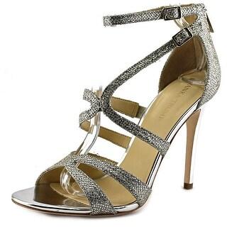 Ivanka Trump Hotis 2 Women Open Toe Canvas Gold Sandals