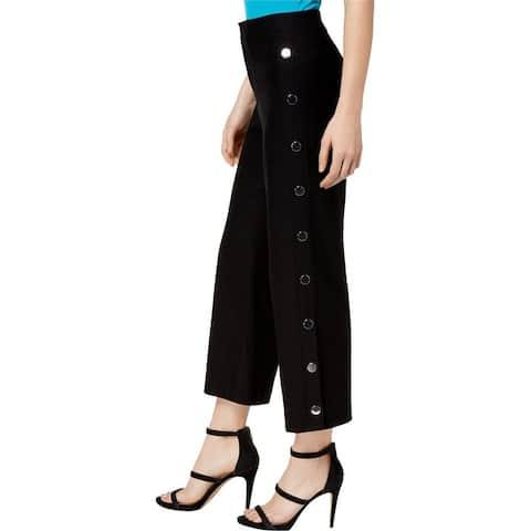 Bar Iii Womens Wide Leg Sailor Casual Cropped Pants