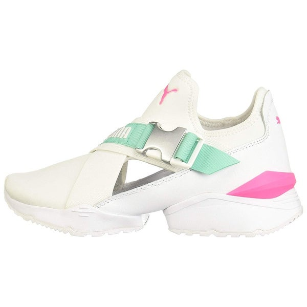 Shop Puma Womens muse eos Leather Low Top Fashion Sneakers