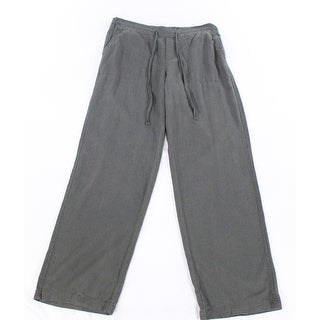 Susina NEW Gray Womens Size Small S Linen Drawstring Casual Pants