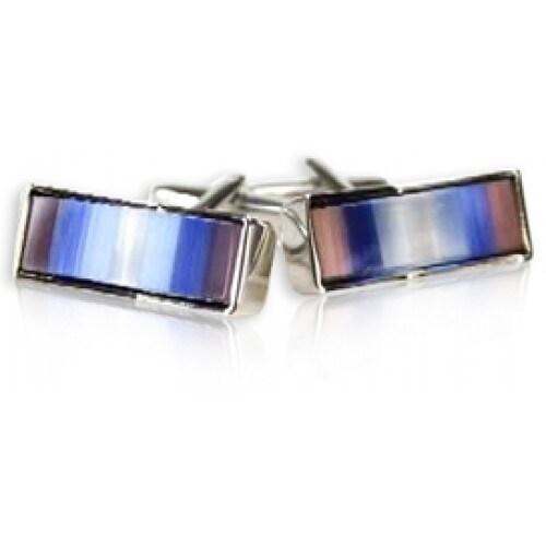 Multi-Colored Fiber Optic Glass Cufflinks