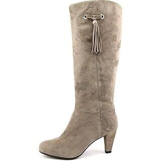 Bandolino Womens BACIA Suede Round Toe Mid-Calf Riding Boots