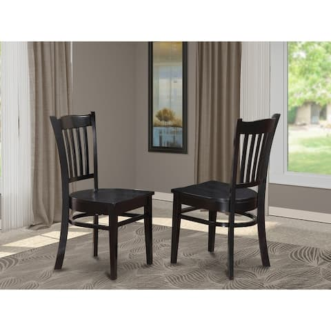 Groton Wooden Seat Dining Chairs with Slatted back - (Finish Pieces Option)