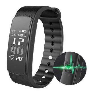 Waterproof Wireless Bluetooth Smart Fitness Tracker Heart Rate Count Wrist Bracelet Watch Band for Android IOS