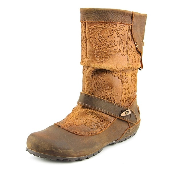 Merrell Haven Pull Women Round Toe Leather Brown Mid Calf Boot