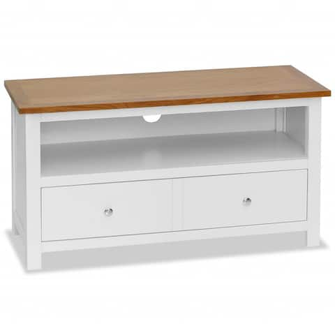 "vidaXL TV Cabinet 35.4""x13.8""x18.9"" Solid Oak Wood"