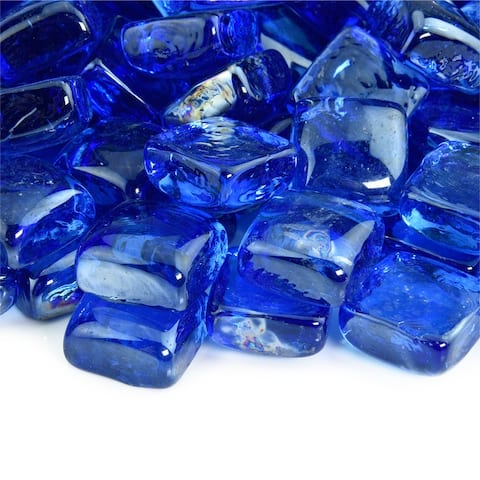 Fire Glass Cubes Indoor and Outdoor Fire Pits or Fireplaces 10 lbs