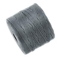 BeadSmith Super-Lon (S-Lon) Cord - Size 18 Twisted Nylon - Gray (77 Yard Spool)