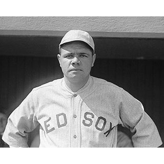 ''Babe Ruth, Boston Red Sox, 1919'' by McMahan Photo Archive Sports/Games Art Print (8 x 10 in.)