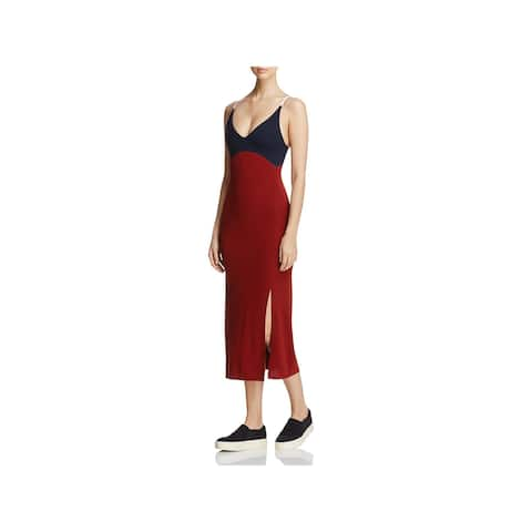 DKNY Womens Slip Dress V-Neck Sleeveless - M