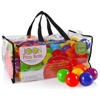 JOON CleanTec Antimicrobial Kids Fun Play Balls, Multi-Colored, 100 Balls