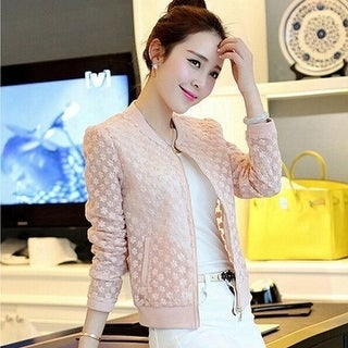 Fashion Casual Autumn Slim Embroidery Lace Coat jacket Short Coat