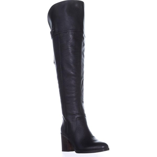 Franco Sarto Ollie Wide Calf Over-The-Knee Boots, Black Leather