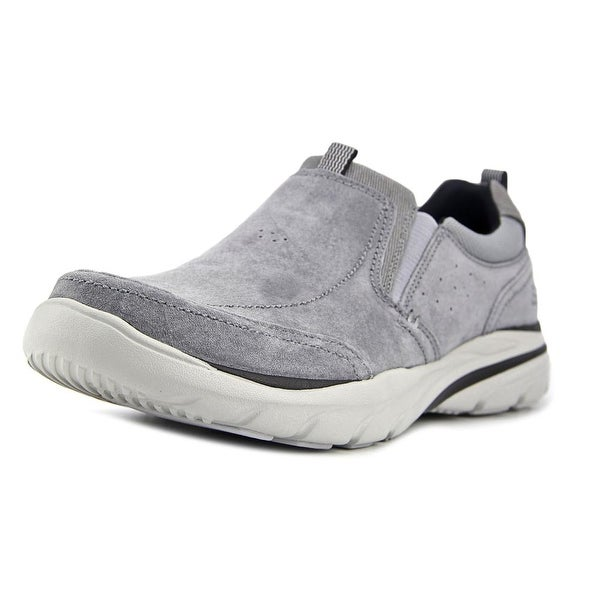 Skechers Corven-Espino Men Round Toe Leather Gray Sneakers