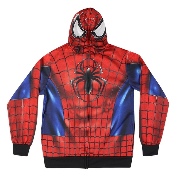 2e3e4cf40 MARVEL Spider-Man Uniform Mask Men's Red Hoodie. Click to Zoom