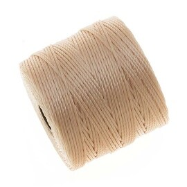 BeadSmith Super-Lon (S-Lon) Cord - Size 18 Twisted Nylon - Natural Beige / 77 Yards