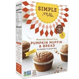 Simple Mills - Pumpkin Almond Flour Muffin Mix ( 6 - 9 oz boxes)