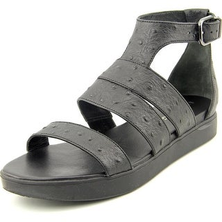 Via Spiga Cora Women Open Toe Leather Black Gladiator Sandal