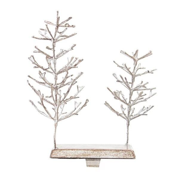 9 distressed brown elegant twig tree decorative christmas stocking holder - Decorative Christmas Stocking Holders