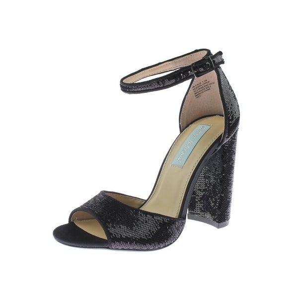 Betsey Johnson Womens Calie Dress Heels Sequined Ankle Strap