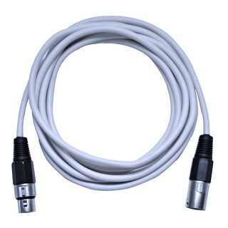Seismic Audio 10 Foot White XLR to XLR Patch Cable - 10' XLR Patch Cord