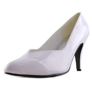 Ellie Sue Women Pointed Toe Synthetic White Heels