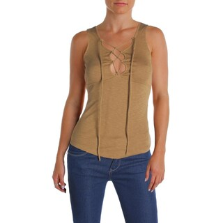 Free People Womens Emmy Lou Tank Top Lace Up Sleeveless (Option: xs - Gold)
