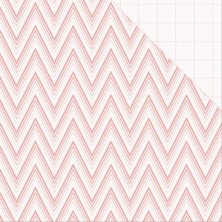 "Project Pink Double-Sided Cardstock 12""X12""-Ombre Chevron"