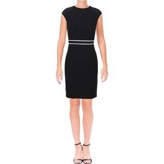 Tommy Hilfiger Womens Wear to Work Dress Cap Sleeve Above Knee