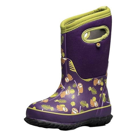 Bogs Outdoor Boots Girls Classic Sloths Waterproof Insulated