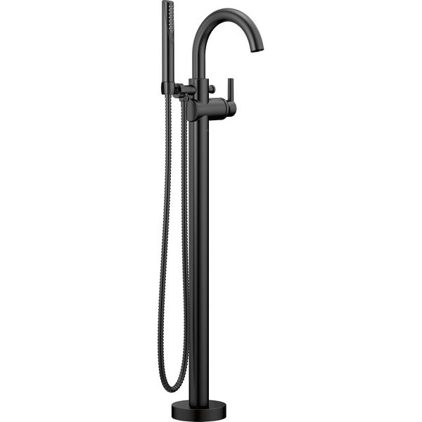 Delta T4759-FL Trinsic Floor Mounted Tub Filler for Free Standing Tub with Personal Hand Shower