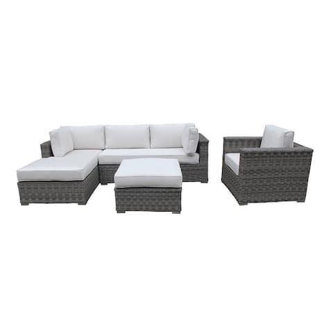 Cozy Corner Patios Garden Furniture  4 Seater Sectional Patio Furniture  4-Piece Outdoor Sectional