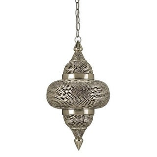 Currey and Company 9103 Tangiers 1 Light Steel Pendant